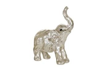 11 Inch Silver Elephant Figurine