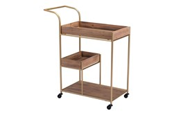 Bar Cart With Brown Trays