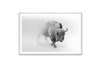 Picture-Wild Bison In The Mist 60X40