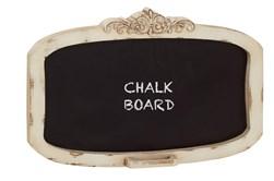 19 Inch Cream Wood Framed Wall Decor Blackboard