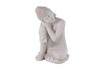 20 Inch Grey Garden Sculpture Buddha