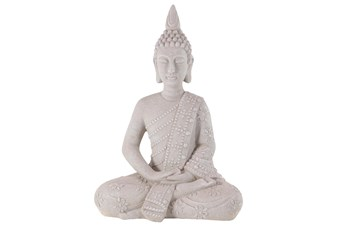 28 Inch Grey Garden Sculpture Buddha
