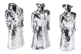 Silver Matte Figurine Set Of 3