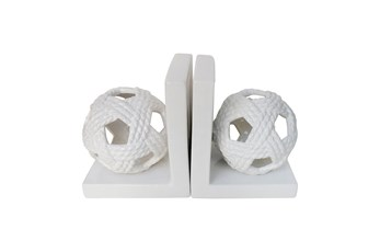 White Orb Book Ends