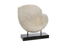 14 Inch White Shell Decor On Base