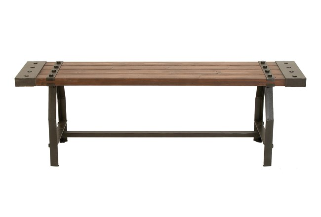 Brown Wood Bench - 360