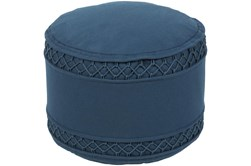Pouf-Blue Felted Textured