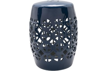 Outdoor Navy Garden Stool