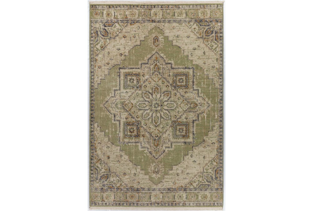 90X116 Rug-Marseille Distressed Aloe