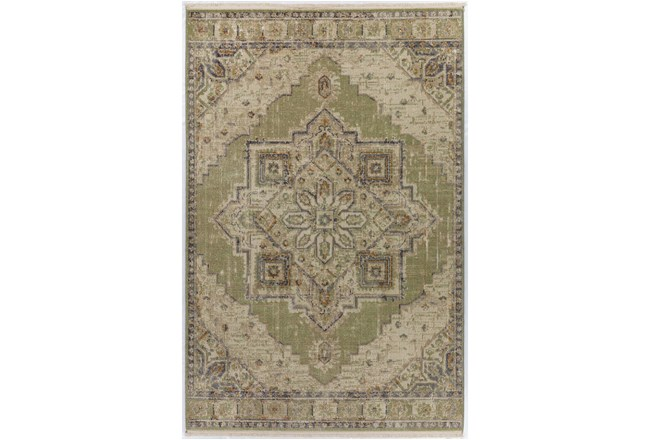 90X116 Rug-Marseille Distressed Aloe - 360