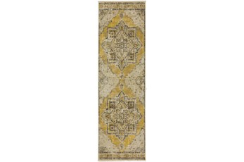 27X92 Runner Rug-Marseille Distressed Lemon