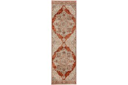 27X92 Runner Rug-Marseille Distressed Mandarin