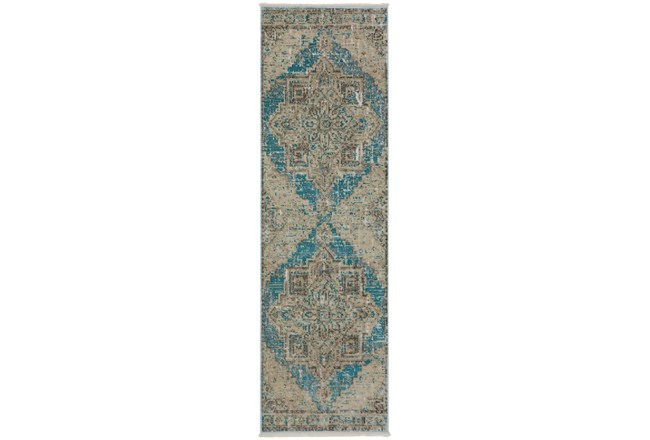 27X92 Runner Rug-Marseille Distressed Ocean - 360