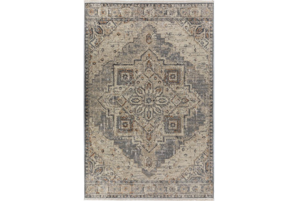 37X64 Rug-Marseille Distressed Pewter