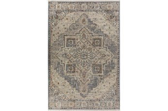90X116 Rug-Marseille Distressed Pewter