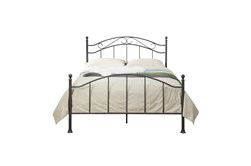 Scroll Queen Metal Bed- Sable Finish