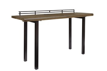 "Rustic Wood + Metal 72"" Writing Desk"