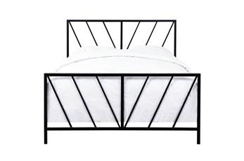 Chevron Pattern Full Metal Bed