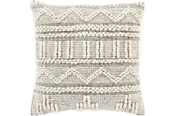 Accent Pillow-Cream Textured Stripes 18X18