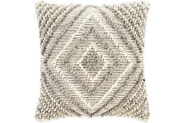 Accent Pillow-Cream And Khaki Diamond 22X22