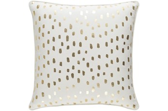 Accent Pillow-Cream And Gold Foil Prints 18X18