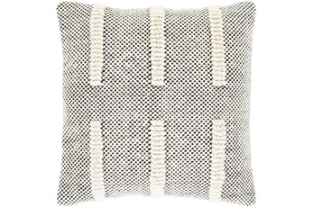 Accent Pillow-Cream And Black Checked 22X22