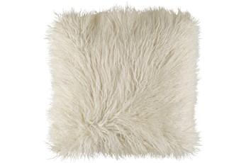 Accent Pillow-White Faux Fur 18X18