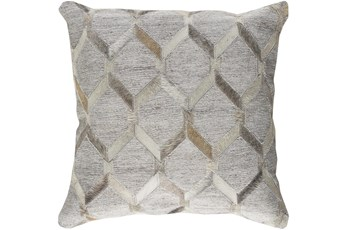 Accent Pillow-Grey And Cream Hair On Hide 20X20