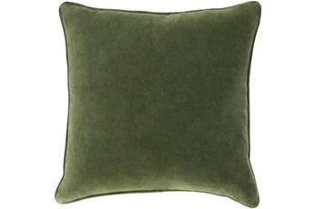 Accent Pillow-Grass Green Velvet 22X22