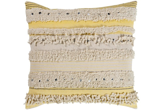 Accent Pillow-Butter Textured Stripes With Sequins 18X18 - 360