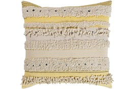 Accent Pillow-Butter Textured Stripes With Sequins 22X22