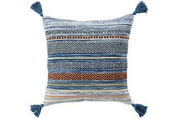 Accent Pillow-Mutlicolor Stripe Tassel 18X18