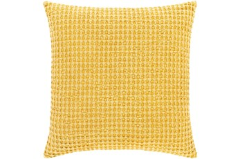 Accent Pillow-Bright Yellow Waffle Print 20X20