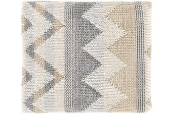 Accent Throw-Khaki Chevron Stripe