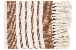 Accent Throw-Burnt Orange Stripe