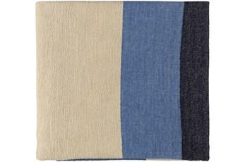 Accent Throw-Blue Beige Stripe