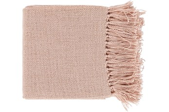 Accent Throw-Blush Metallic Gold