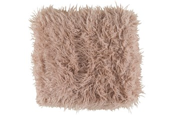 Accent Throw-Blush Faux Fur