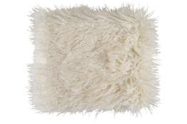 Accent Throw-Cream Faux Fur