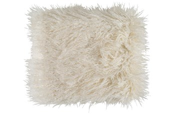 Accent Throw-Cream Faux Fur