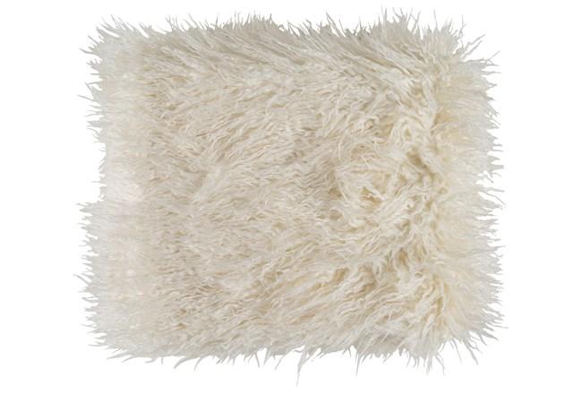 Accent Throw-Cream Faux Fur - 360