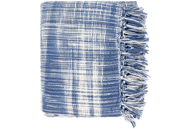 Accent Throw-Blue White Plaid - 360