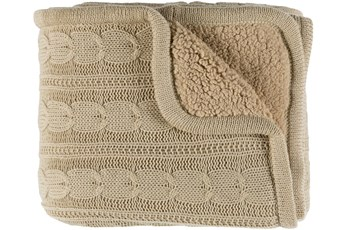 Accent Throw-Khaki Knitted