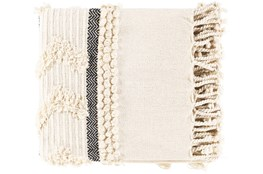 Accent Throw-Cream Textured Fringe