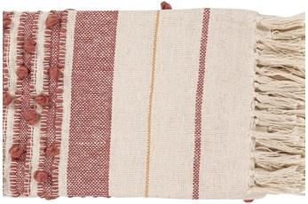 Accent Throw-Rose Stripe