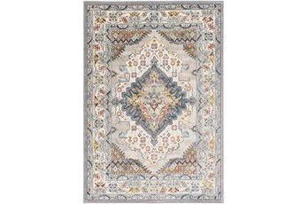 79 Inch Round Rug-Traditional Multicolor