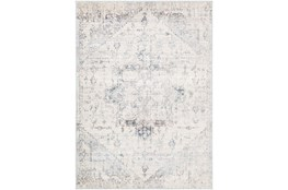 94 Inch Round Rug-Traditional Pale Multicolor