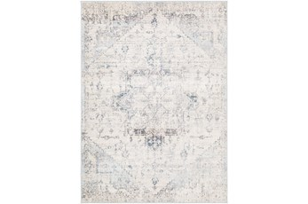 106X144 Rug-Traditional Pale Multicolor