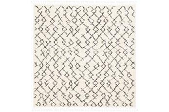 94X94 Square Rug-Global Shag Charcoal/Beige