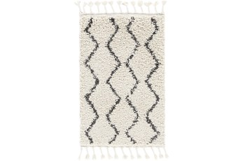 120X167 Rug-Global Shag Charcoal/Beige